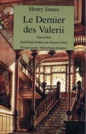 Le dernier des Valerii - Couverture - Format classique