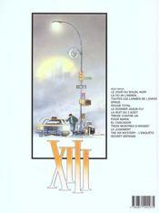 XIII T.14 ; secret défense - 4ème de couverture - Format classique