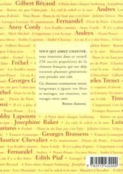 258 chansons du temps qui passe - 4ème de couverture - Format classique