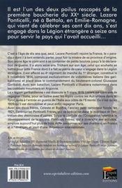 Hommage à Lazare Ponticelli ; dernier légionnaire de la grande guerre - 4ème de couverture - Format classique
