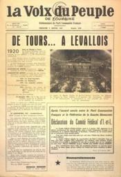 Voix Du Peuple De Touraine (La) N°1328 du 08/01/1967 - Couverture - Format classique