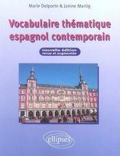 Vocabulaire Thematique Espagnol Contemporain Nouvelle Edition Revue Et Augmentee - Intérieur - Format classique