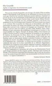Elie Gounelle : Apotre Et Inspirateur Du Christianisme Social - 4ème de couverture - Format classique
