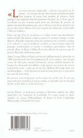 La Litterature Oubliee Du Socialisme Essai Sur Une Memoire Refoulee - 4ème de couverture - Format classique