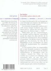 Les Boites ; Les Grandes Surfaces Dans Les Villes - 4ème de couverture - Format classique