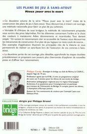 Plans De Jeux A Sans Atout - 4ème de couverture - Format classique