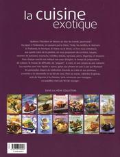 La cuisine exotique - 4ème de couverture - Format classique