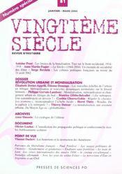 Revue Vingtieme Siecle N.81 ; Révolution Urbaine Et Mondialisation - Intérieur - Format classique