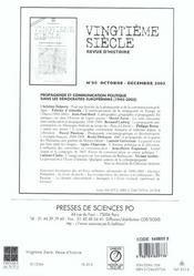 Revue Vingtieme Siecle N.81 ; Révolution Urbaine Et Mondialisation - 4ème de couverture - Format classique