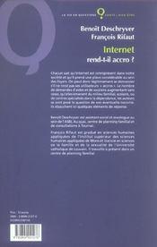 Internet Rend-T-Il Accro - 4ème de couverture - Format classique