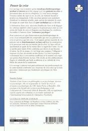 Penser La Crise L'Emergence Du Soi Dans Un Service D'Urgence Psychiatrique - 4ème de couverture - Format classique