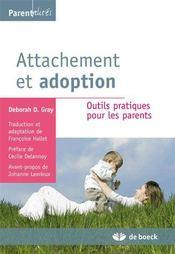 Attachement et adoption ; outils pratiques pour les parents - Intérieur - Format classique
