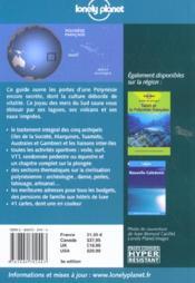 Tahiti Et La Polynesie Francaise ; 3e Edition - 4ème de couverture - Format classique