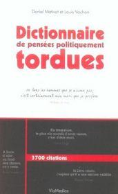 Dictionnaire de pensees politiquement tordues - Intérieur - Format classique