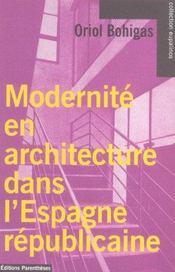 Modernite En Architecture Dans L'Espagne Republicaine - Intérieur - Format classique