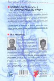 Science experimentale et connaissance du vivant - 4ème de couverture - Format classique