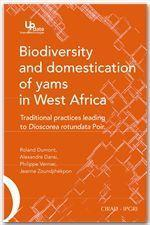 Biodiversity and domestication of yams in West Africa - Couverture - Format classique