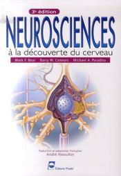 Neurosciences ; à la decouverte du cerveau (3e édition) - Intérieur - Format classique