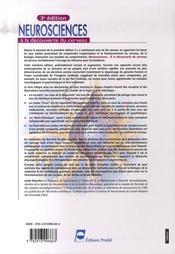 Neurosciences ; à la decouverte du cerveau (3e édition) - 4ème de couverture - Format classique