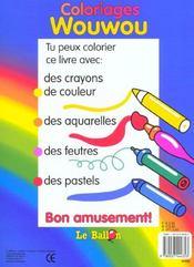 Wouwou ; coloriage - 4ème de couverture - Format classique