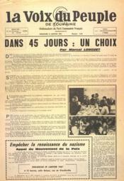 Voix Du Peuple De Touraine (La) N°1330 du 22/01/1967 - Couverture - Format classique