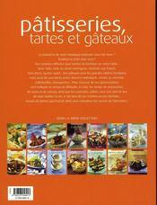 Pâtisseries, tartes et gâteaux - 4ème de couverture - Format classique