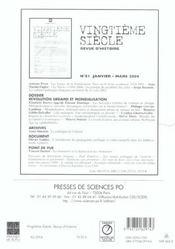 Revue Vingtieme Siecle N.82 ; Islam Et Politique En Méditerrannée Au Xx Siècle - 4ème de couverture - Format classique