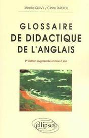 Glossaire De Didactique De L'Anglais 2e Edition Augmentee Et Mise A Jour - Intérieur - Format classique