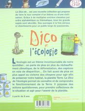 Dico De L Ecologie - 4ème de couverture - Format classique