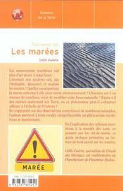 Tout Savoir Sur Les Marees - 4ème de couverture - Format classique