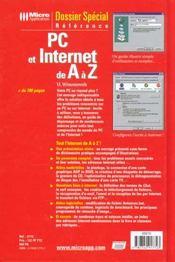Dossier special pc et internet de a a z - 4ème de couverture - Format classique
