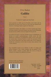 Galilee t.1 - 4ème de couverture - Format classique