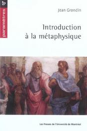 Introduction A La Metaphysique - Intérieur - Format classique