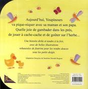 La belle journée de youpinours - 4ème de couverture - Format classique