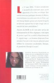 Kgb Et Cie ; A L'Assaut De L'Europe - 4ème de couverture - Format classique