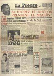 Presse (La) N°156 du 18/11/1948 - Couverture - Format classique