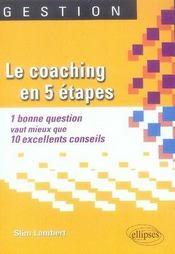 Le coaching en 5 étapes - Intérieur - Format classique