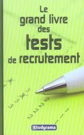 Le grand livre des tests de recrutement - Intérieur - Format classique