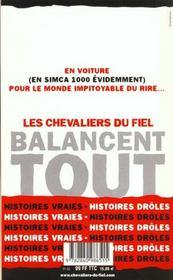 Les Chevaliers Du Fiel Balancent Tout - 4ème de couverture - Format classique