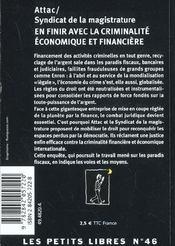 En Finir Avec La Criminalite Economique Et Financiere - 4ème de couverture - Format classique