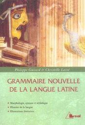 Grammaire nouvelle de la langue latine - Intérieur - Format classique