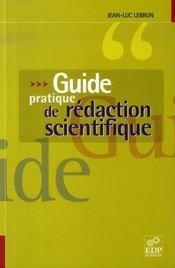 Guide pratique de rédaction scientifique - Intérieur - Format classique