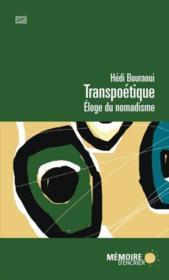 Transpoétique ; éloge du nomadisme - Couverture - Format classique