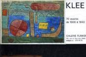 Plaquette D'Inivation Pour L'Exposition Au Vernisage A La Galerie Flinker Le Jeudi 28 Mars 1974 De 18 H A 20h - 70 Oeuvres De 1908 A 1940. - Couverture - Format classique