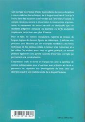 L'Expression Orale Et L'Expression Ecrite En Francais - 4ème de couverture - Format classique