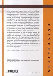 Géographie politique et géopolitique (2e édition mise à jour) - 4ème de couverture - Format classique