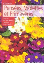 Pensees, Violettes Et Primeveres - Intérieur - Format classique