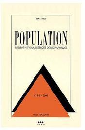 Revue population t.4-5 (édition 2000) - Couverture - Format classique