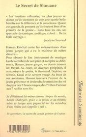 Le Secret De Shouane ; Les Mesaventures De Hassan Katchal ; Le Secret Du Cheval - 4ème de couverture - Format classique