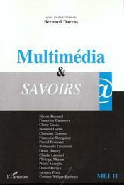 Revue Mediation & Information N.11 ; Multimedia Et Savoirs - Intérieur - Format classique